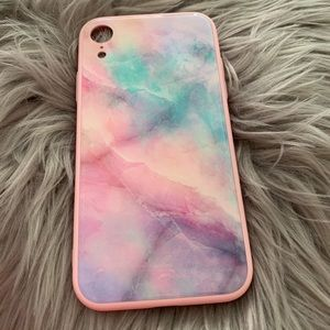 Iphone XR Multi-color Marble Case